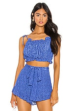 Privacy Please Francine Top in Blue Floral