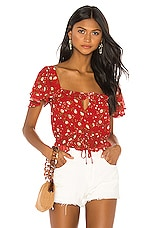 Privacy Please Valeria Top in Red Emma Floral