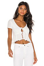 Privacy Please Lucinda Top in Peony White