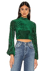 Privacy Please Lynnsey Crop Top in Emerald Green