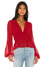 Privacy Please Eliot Top in Garnet Red
