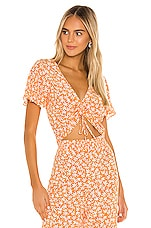 Privacy Please Coco Top in Orange Cabana Floral