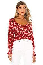 Privacy Please Josephine Top in Red Lola Floral