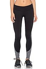 Fleece Legging in Black & Light Heather