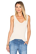 Kate Double V Tank in Tea Stain