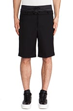 Combo Drawstring Shorts in Black