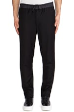 Elasticated Waist Pants in Black