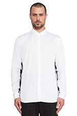 Contrast Under Sleeve Button Down in White