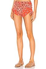 Paradised Knot Shorts in Honeysuckle Bandana