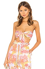 Paradised Bandeau Top in Mango & Peach