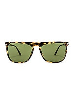 Persol PO3225S in Tortoise Brown Beige & Green