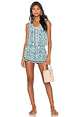 Poupette St Barth Lucy Romper in Blue Fantasy