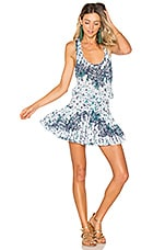 Poupette St Barth Kila Mini Dress in White Navy Galaxy