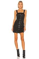PISTOLA Gwen Dress in Coated Onyx