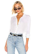 PISTOLA Button Down Top in Blanc