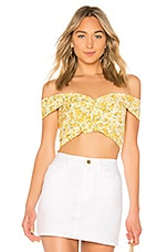 Petersyn Freya Top in Yellow Floral