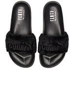x Rihanna Leadcat Fenty Sandal in Black & Puma Silver