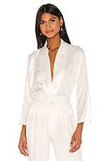 Piece of White Celine Silk Shirt in Ecru