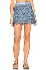 Symi Lace Skirt in Indigo