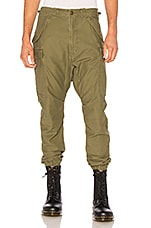 R13 Surplus Military Cargo Pants in Olive