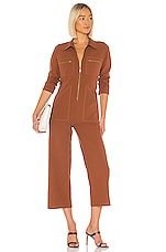 Rachel Pally Winter Linen Canvas Shelby Jumpsuit in Masala