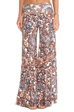 Wide Leg Trouser in Lotus Paisley