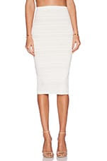Pointelle Pencil Skirt in Ivory