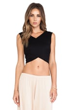 Rib Clarke Crop Top in Black