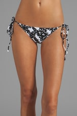 Ibiza Bikini Bottom in Black Bonsai