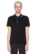 Fred Perry Shirt with Contrast Tipping in Soho Black