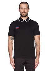 Detachable Collar Fred Perry Shirt in Soho Black