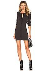 rag & bone/JEAN Mallory Thermal Dress in Black