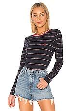 Rag & Bone Julien Striped Sweater in Blue Stripe