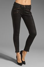 Leather Legging with Exposed Zips in Black