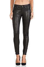 The Leather Skinny in Washed Black