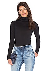 Base Turtleneck Top in Black