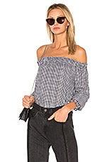 Classic Gingham Top in Black & White