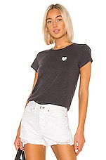 Rag & Bone Heart Tee in Dark Grey