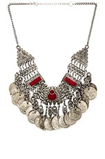 Coin Chain Necklace in Red