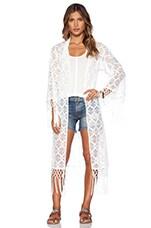 Love Lace Caftan en Blanc