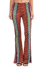 Raga Printed Wide Leg Pants in Red & Orange Multi