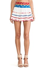 Raga Printed Mini Skirt in Eggshell