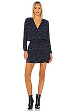 Rails Jasmine Mini Dress in Azure Leopard