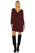 Rails Raine Mini Dress in Garnet Ash Check