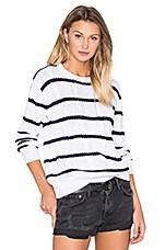Rails Natasha Sweater in White & Navy Stripe