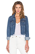 Isla Cutoff Jean Jacket in Dark Vintage Wash