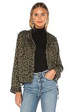 Rails Collins Jacket in Green Leopard