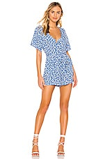 Rails Sophia Romper in Blue Daisies