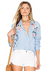 Rails Chandler Button Down in Vintage Wash Floral Embroidered