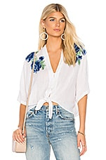 Rails Thea Top in Blue Rose Embroidery